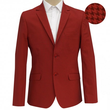 Blazer Gallineto Rojo Slim Fit