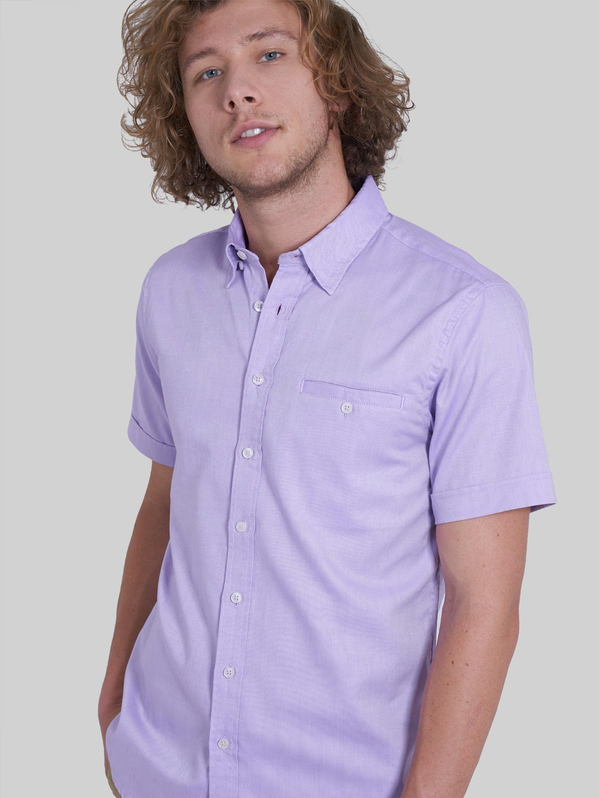 CAMISA CASUAL UNICOLOR SLIM FIT PARA HOMBRE