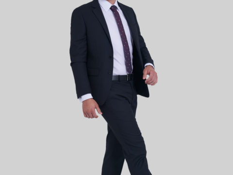Traje Unicolor Actual Fit para hombre