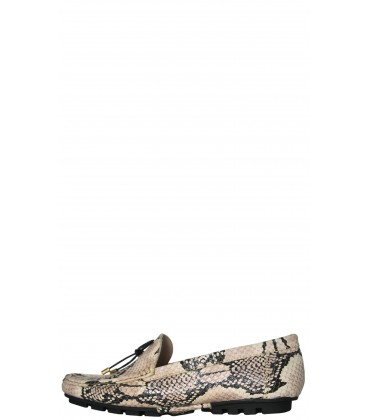 Loafers para mujer Stivali Trista Snake Natural