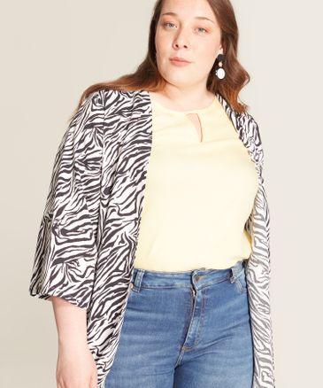 Saco Animal Print blanco 14