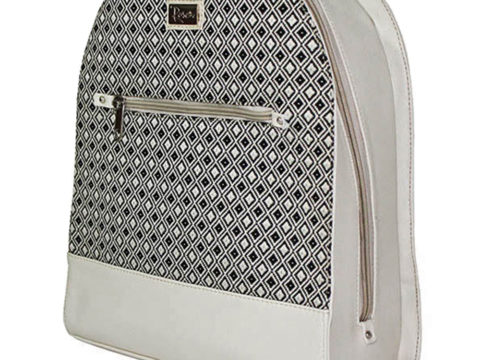 Morral Martina Beige Rombos Negro Linio
